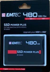 """Emtec 480GB Internal SSD X150 2.5"""" Solid State Drive SATA III 6Gbit/s 3D NAND"""