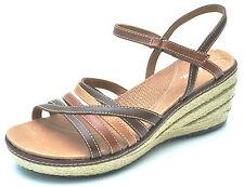 Clarks ZITA Brown Strappy Wedges Sandals Women's 7 - NEW