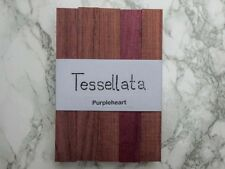 Five Purpleheart exotic wood blanks for pen turning and other small projects