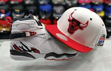 Matching Mitchell & Ness 1993 Chicago Bulls snapback Hat for Jordan 8 ALTERNATE