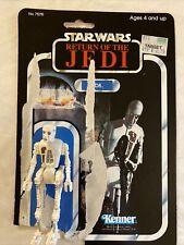 Vintage Star Wars 8D8 Return Of The Jedi Action Figure 77 Back Card 1983