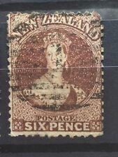 New Zealand 1864 #36 6d Chalon Wmk 6,Queen Victoria VFU