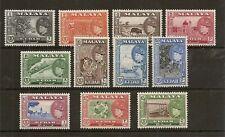 MALAYA KEDAH 1957 SET TO $5 SG92/102 MNH