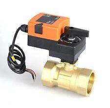 24VDC 4-20ma/0-10V 2 Way Brass Electric Motorized Control Modulating Ball Valve