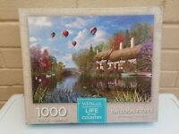 WHSmith Life In The Country Balloon Fiesta 1000 Piece Jigsaw Puzzle