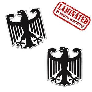 2 x Aufkleber Deutschland Adler Eagle Bundesadler Sticker Auto Moto Tuning B 181