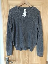 H&M Grey Knitted Jumper Sweater With Zips On Side M