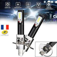 2Pcs 160W H1 LED Phare Ampoule Auto Lumière de brume 3200LM 6500K Lampe blanche