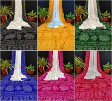 Tafeta Silk Bandhej Saree Blouse Indian Wedding Women's Clothing Designer Wear