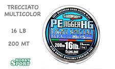 TRECCIATO MULTIFIBRA PE JIGGER SUNLINE 16 LIBBRE  200 MT