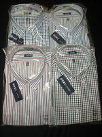 NWT $50 Mens Izod Big & Tall Dress Casual Shirts Long Sleeves Plaid or Stripe
