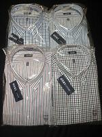 NWT $50 Mens Izod Big & Tall Dress Casual Shirts Long Sleeves Plaid or Stripe