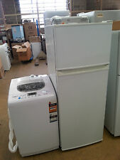 PACKAGE DEAL NEW WASHING MACHINE & ANY 1 OF 5 SELLER REFRB FRIDGE WITH WARRANTY