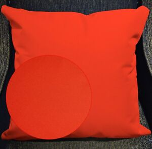 PL19a Bright Orange Canvas Water Proof Outdoor Cushion Cover/Pillow Case Custom