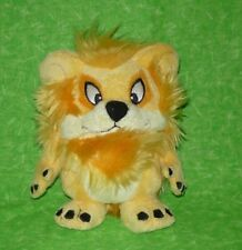 """Neopets 6"""" tall Orange Yurble Yellow Plush Lion Stuffed Animal Toy 2004"""