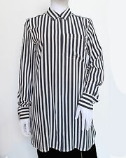 NWT J Crew Classic Silk Shirt in Stripe Size 0P Slate Roof FA14 $118 B2109