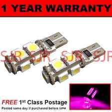 W5w t10 501 Canbus Error Free Pink 9 led side bulbs x2 sl101701