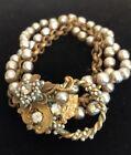 Vintage MIRIAM HASKELL Baroque Pearl Bracelet