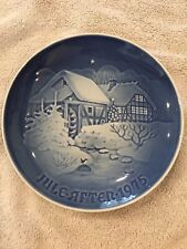 B&G Copenhagen Porcelain Jule After Plate 1975 Christmas at the Old Water Mill