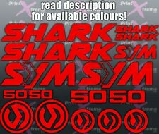 Sym Shark 50 Decals Stickers set Motorcycle Scooter Racing Choice of 16 Colours