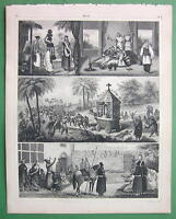 INDIA Persia Women Girls Fashion Harem Dance !! SUPERB Antique Print