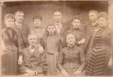 PORTRAIT OF AMERICAN FAMILY & ORIGINAL ca 1880's PHOTO, TIPPECANOE, OHIO STUDIO