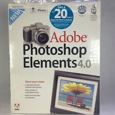 2005 ADOBE Photoshop Elements 4.0 Apple Mac Install CD Software Disc Manual Box