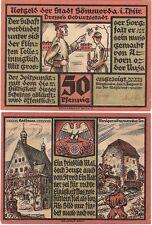 Germany 50 Pfennig 1921 Notgeld Sommers AU-UNC Banknote - Soldier Training