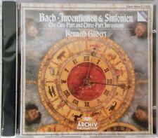 NEW JS Bach: Inventionen & Sinfonien -  Kenneth Gilbert (CD 1985 Archiv BMG Ed.)