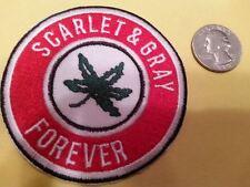 "Osu - University of Ohio State Buckeyes Rare Embroidered Iron On Patch 3"" x 3"""