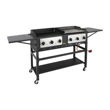 More details for buffalo 6 burner combi bbq grill and griddle - cp240 outdoor catering