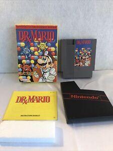 Nintendo NES Dr. Mario Box Manual Game Original