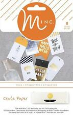 HEIDI SWAPP - MINC -   CRATE PAPER -  After Dark  TAGS 8 pieces  680286