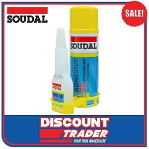 Soudal Professional Super Adhesive 2C Kit 50g Glue & 200ml Activator 135623