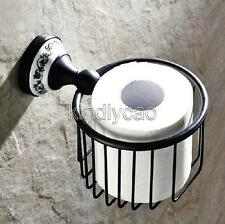 Oil Rubbed Bronze Roll Toilet Paper Holder Bathroom Tissue Holder Basket Kba290