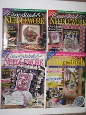 Lot Of 4 Better Homes & Gardens Cross Stitch & Needlework Magazines 1990's
