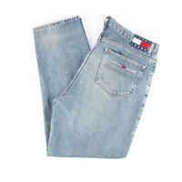 Vintage TOMMY HILFIGER  Blue Denim Relaxed Straight Jeans Mens W40 L34