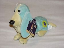 Applause Hush Puppies Green Basset Hound Dog Plush Beanbag Rainbow #3 puppy Tags