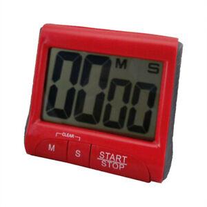 Kurzzeitmesser Küchentimer Küchenwecker Stoppuhr mit Magnet Eieruhr Digital NEU~