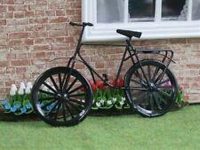 Black Metal Bicycle / Bike, Doll House Miniature Bike, Garden Accessory, Cycle