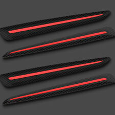 4PCS Car Front&Rear Bumper Carbon fiber Black Crash Strip Decorative Protections