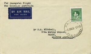 """NEW GUINEA 1938 superb First Flight Carpenter Air Lines """"New Guinea - Australia"""""""