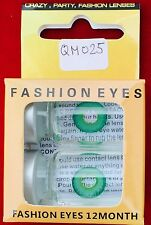 Movie Quality Contact Lenses Green Elf , Neu OVP + 1 Case For Free