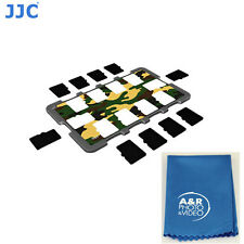JJC MCH-MSD10YG Memory Card Holder fits stores 10 Micro SD Card Credit card size