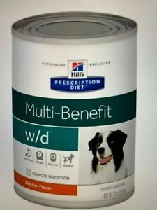 Hill's  W/D multi-benefit dog chicken  13oz / 12 cans - free ship