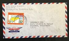 Honduras Venezuela cover to USA franked with Topic Map solo