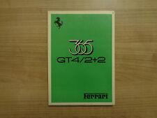 Ferrari 365 GT4/2+2 Owners Handbook/Manual