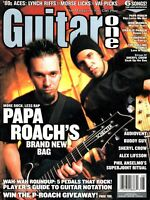 Guitar One Magazine August 2002- Papa Roach, Steve Morse, Superjoint Ritual