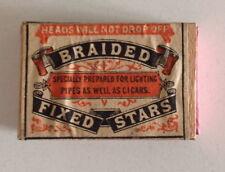 Très Ancienne  boîte allumette Royaume Uni entière avec allumettes Braided