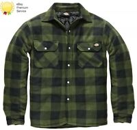 MENS DICKIES PORTLAND WORKWEAR PADDED WORK CASUAL SHIRT SH5000 GREEN SIZE S-4XL